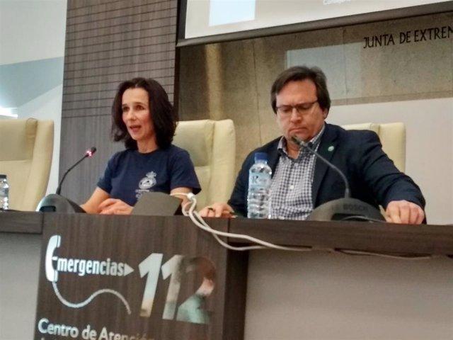Nieves Villar y Juan Carlos González ofrecen los datos del 112 en 2018