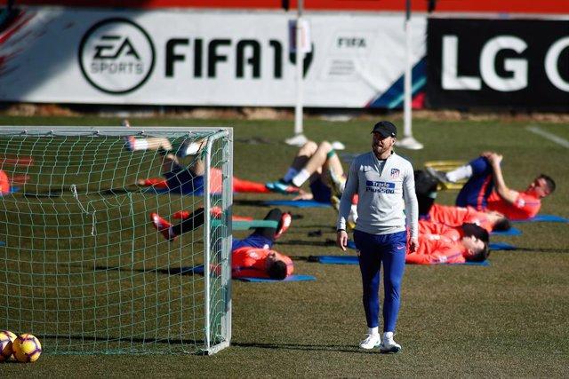 Soccer: La Liga - Atletico de Madrid training day