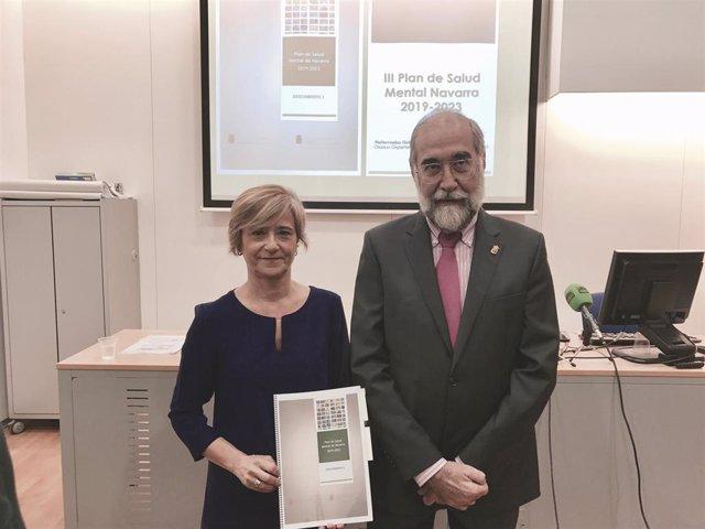 Begoña Flamarique y Fernando Domínguez en la presentación del Plan de Salud Ment