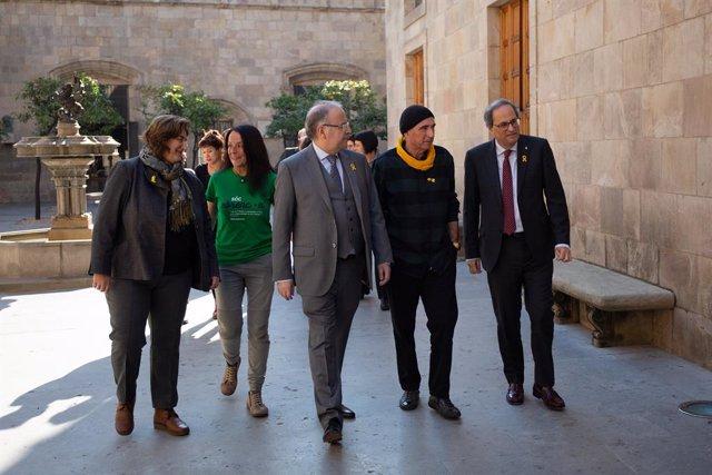Reunió de Quim Torra amb el Consell Assessor per l'impuls del Frum Cívic i Cons