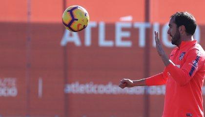 Godín recibe el alta y podrá disputar el derbi madrileño