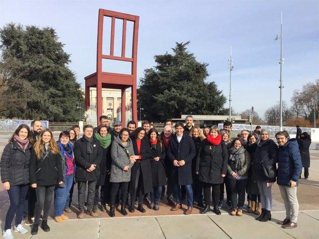 Reunió del grup parlamentari d'ERC a Ginebra