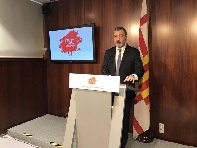 El líder del PSC a l'Ajuntament, Jaume Collboni