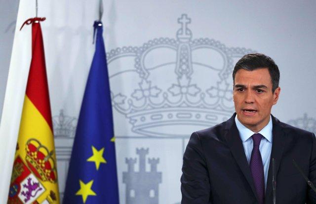 Pedro Sánchez hace declaración institucional en La Moncloa