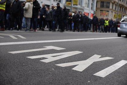 """Taxistes surten al carrer aquest dissabte a Madrid amb una manifestació contra l'""""uberització dels serveis públics"""""""