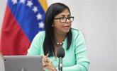 Foto: La vicepresidenta de Venezuela aplaude el diálogo en Montevideo para resolver la crisis política