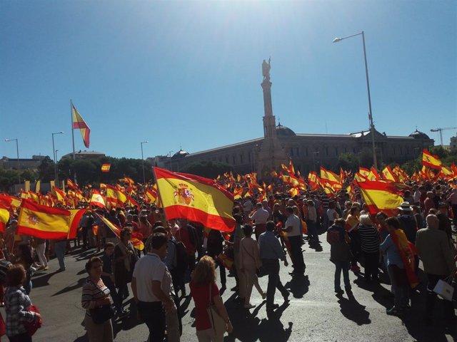 Manifestació a la Plaça de Colón de Madrid