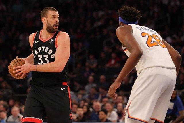 Toronto Raptors Marc Gasol New York Knicks debut