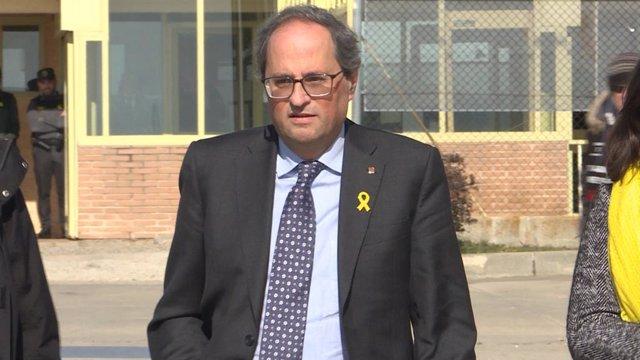 Visita del president de la Generalitat catalana, Quim Torra, als presos sober