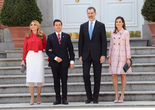Reyes  felipe letizia almuerzo   Presidente  Mexico  Enrique Peña Nieto Angélica