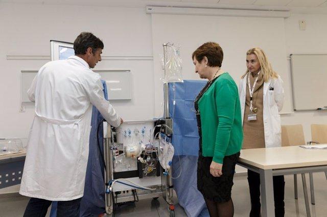 Imagen de archivo de la presentación del dispostivo de perfusión pulmonar ex viv