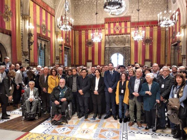 Acte d'ACM l'Ajuntament de Barcelona amb 400 alcaldes davant el judici de el 1-O