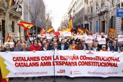 """Unes 300 persones es concentren a Barcelona per """"l'Espanya constitucional"""""""