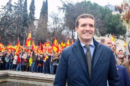 """Casado dice que la manifestación de Colón certificó """"el fin"""" de Sánchez y apuesta por elecciones generales el 26 de mayo"""