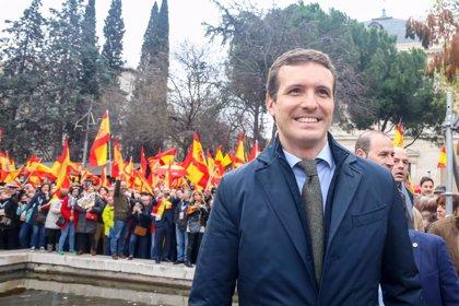 """Casado diu que la manifestació a Madrid va certificar """"el final"""" de Sánchez i aposta per les eleccions el 26 de maig"""