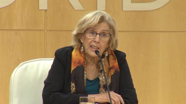 Rueda de prensa de la alcaldesa de Madrid, Manuela Carmen para hablar sobre la s