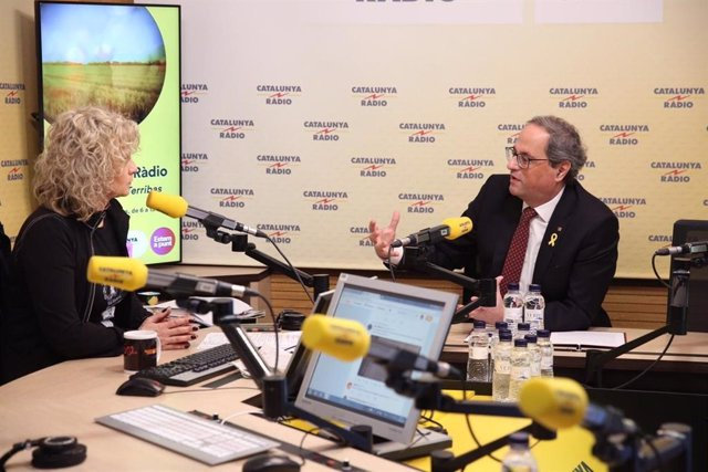 El presidente catalán Quim Torra en Catalunya Ràdio