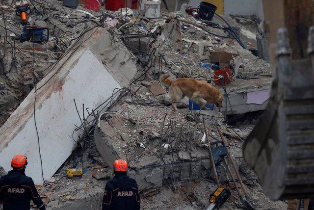 Derrumbe de un edificio residencial en Estambul