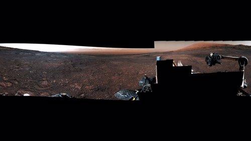 Panorama de Marte desde el rover Curiosity