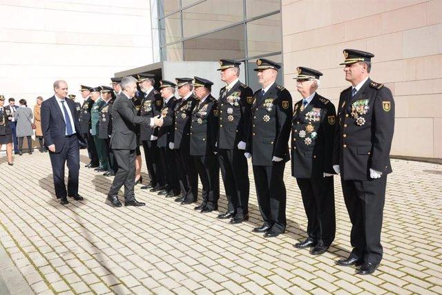 Grande-Marlaska saluda la cúpula policial
