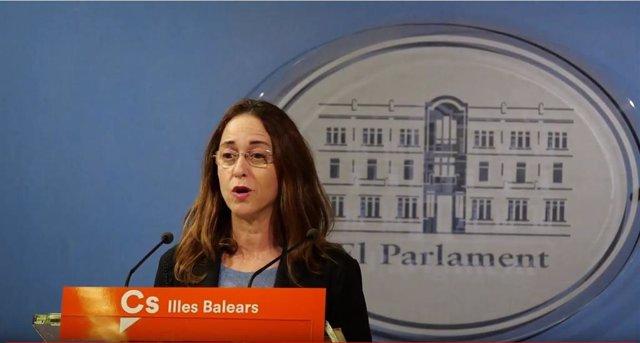 La diputada de Cs, Olga Ballester, en rueda de prensa