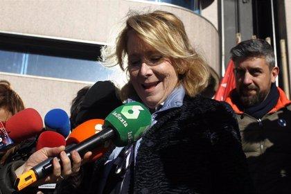 """Esperanza Aguirre afirma que no le constan los seguimientos a políticos del PP y que Prada era """"el más aguirrista"""""""