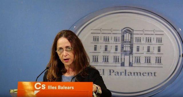 La diputada de Cs en el Parlament balear, Olga Ballester