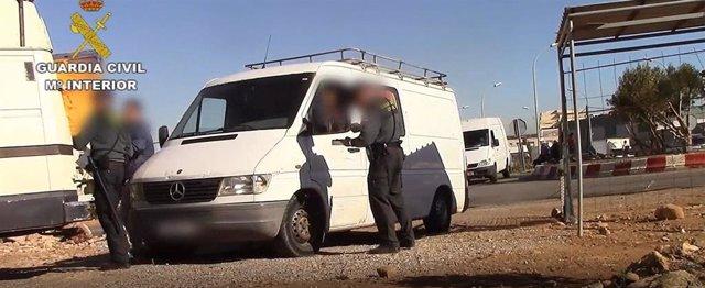 Operación Calafate desarrollado por la Guardia Civil en Melilla y Valencia