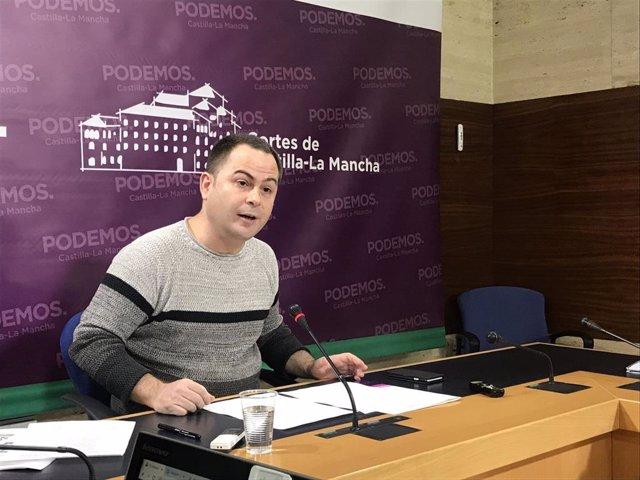 El diputado de Podemos en las Cortes de C-LM, David Llorente