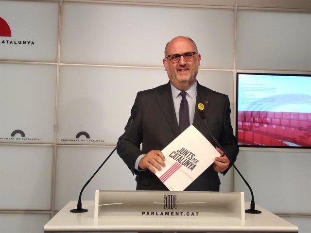 El portaveu adjunt de JxCat, Eduard Pujol