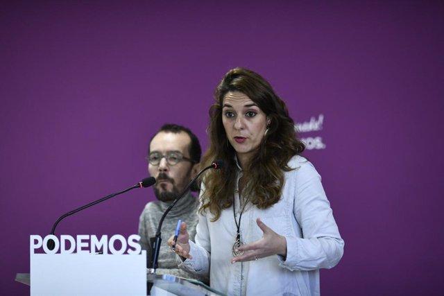 Roda de premsa de Podem sobre l'actualitat política