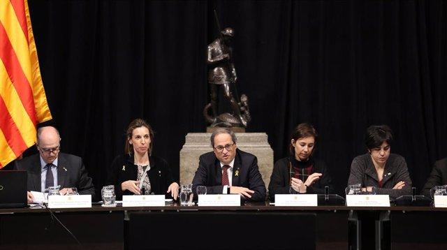 Francesc Xavier Grau, Àngels Chacón, Quim Torra, Núria Conca, Laura Pelay