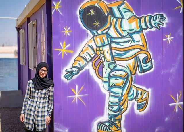 Bodoor, niña siria refugiada que sueña con ser astronauta