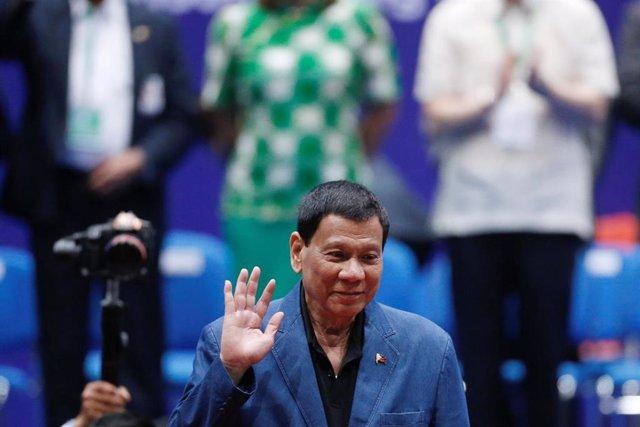 El presidente filipino, Rodrigo Duterte, en Hong Kong