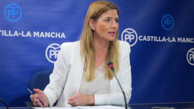 La secretaria general del PP de C-LM, Carolina Agudo, en rueda de prensa