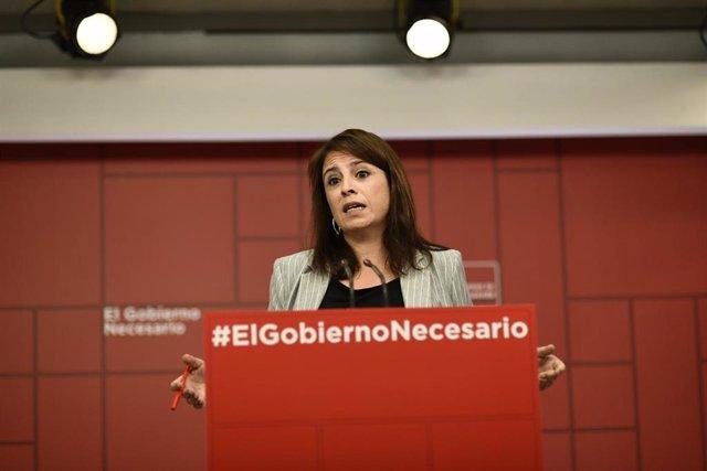 Rueda de prensa del PSOE sobre actualidad política