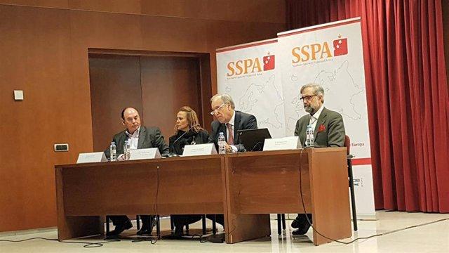 Mayte Pérez ha presentado hoy este informe sobre despoblación en Teruel