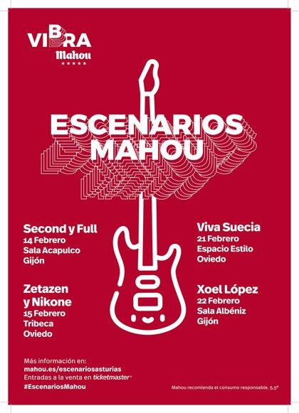 Mahou San Miguel.- Viva Suecia', 'Zetazen', 'Nikone', 'Second', 'Full' y 'Xoel' López en 'Escenarios Mahou' en Asturias