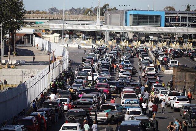 Frontera de San Ysidro entre Estados Unidos y México