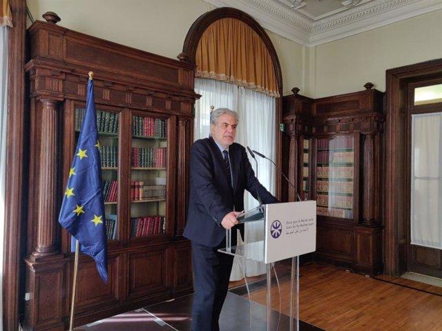 El comisario europeo de Ayuda Humanitaria y Gestión de Crisis, Christos Styliani