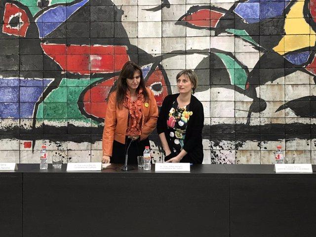 Les conselleres Laura Borràs i Alba Vergés