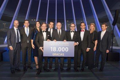 La II Noche Solidaria de Sabor Empresarial recauda 18.000€ para Casa Caridad, 3.000 más que el año pasado