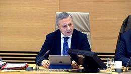 El exministro de Fomento, José Blanco, durante la comisión de investigación del
