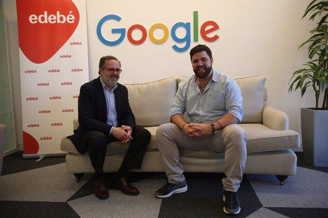 Antoni Garrido (Edebé) i Marc Sanz (Google)