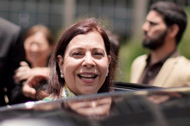 """La """"embajadora"""" de Venezuela en Brasil, María Teresa Belandria"""
