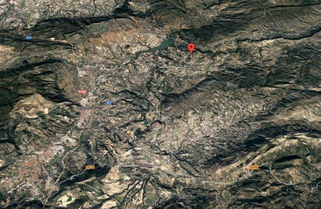Localització de Planes (Alacant)