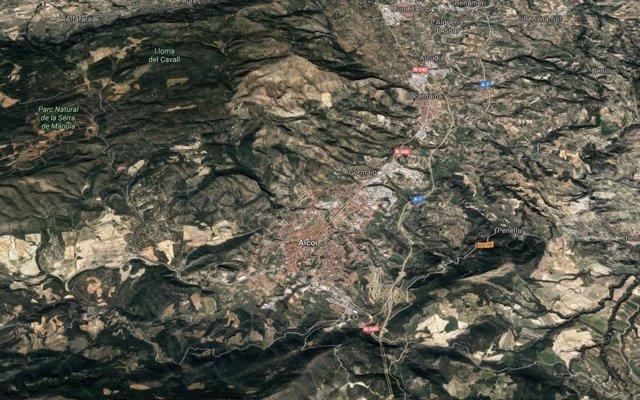 Localització d'Alcoi (Alacant)