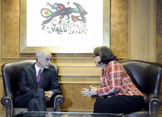 Jefe de Gobierno de Andorra, Antoni Martí; secretaria general Iberoamericana, Re