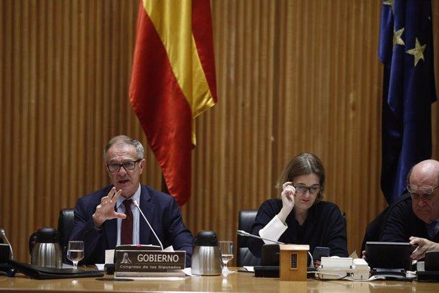 Guirao en la Comisión de Cultura y Deporte en el Congreso de los Diputados
