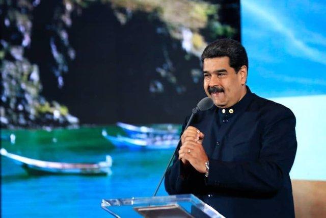 Nicolás Maduro en la presentación de la estrategia Marca País